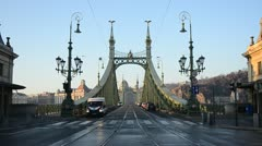Liberty Bridge Budapest Stock Footage