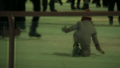 Ice Skating People and Zamboni 36 Stock Footage