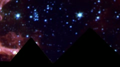 Egyptian pyramid, stars - stock footage
