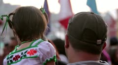 Child in the celebration of Guadalupe with typical dress Stock Footage