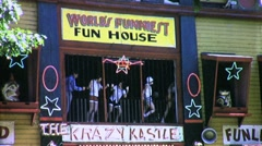 Amusement Park Carnival Funhouse Circa 1945 (Vintage Film Home Movie) 1727 Stock Footage