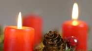 Stock Video Footage of Two candles lighted on an advent wreath