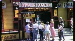 People Visit FUNHOUSE Amusement Park CHICAGO 1950s Vintage Film Home Movie 1728 Stock Footage