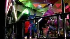 Merry go round, carousel Stock Footage