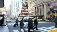 Timelapse, Busy New York Street - stock footage