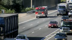 Driving Fire Truck, HD Stock Footage