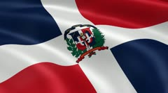 Dominican Republic flag in the wind Stock Footage