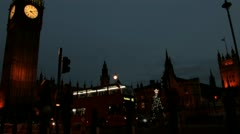 Night Timelapse of Big Ben and Westminister 2011 Stock Footage
