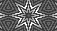 Stock Video Footage of Kaleidoscope 2D b/w