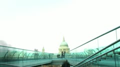 Timelapse of the Millenium Bridge in London 2011 - stock footage