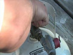Turning on Propane Tank - stock footage