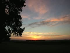 North Dakota Sunrise TIme Laps 1 Stock Footage