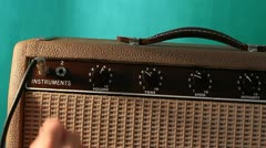 Guitar amp adjusted green screen Stock Footage
