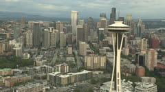 Seattle Space Needle and Downtown Stock Footage