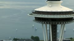 Seattle Space Needle Stock Footage