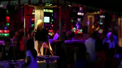 Striptease club with naked performance Stock Footage