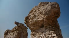 Ashkelon antiquities Canaan wall P4 Stock Footage