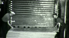 Worker in Plywood Lumber Factory Circa 1940 (Vintage 16mm Film Footage) 1745 Stock Footage