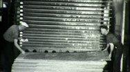 Worker in Plywood Lumber Factory Circa 1940 (Vintage 16mm Film Footage) 1745 Stock Footage