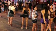 Stock Video Footage of Prostitutes are waiting for costumer