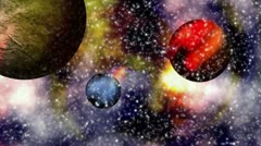 Animation - space - planets Stock Footage