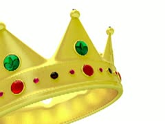 Golden crown WEB SMALL - stock footage