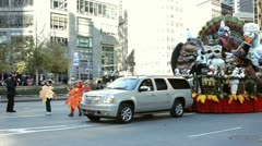 Ocean Spray float in Macy's parade - stock footage
