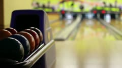 Bowling playing Stock Footage