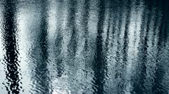 Forest reflection in water,ripple,corrugated,wave,Sparkling. - stock footage