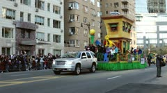 Sesame Street float in Macy's parade Stock Footage