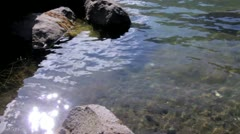 Pure Water in High Mountain Pond Stock Footage