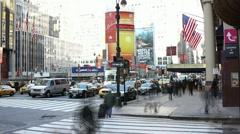 Busy New York City Street - stock footage