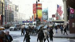 Busy New York City Street  (v2) - stock footage