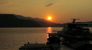 Stock Video Footage of Harbor in Sunset