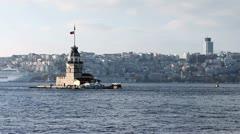 Stock Video Footage of view of istanbul kizkulesi