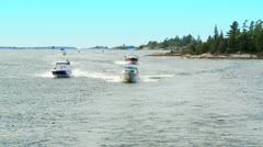 Boats on a Lake_HD Stock Footage