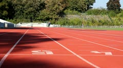 Male sprinter short distance Stock Footage