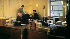 Office Workers Business People at Work 1940s 1930s Vintage Film Home Movie 1761 Stock Footage