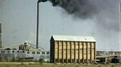 Factory Smokestack Industrial Plant Belching Pollution 1940s Vintage Film  1762 - stock footage