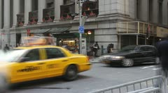 Wall Street Morning Commuters - stock footage