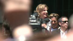 Marlee Matlin Walk of Fame 01 Stock Footage