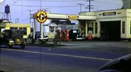 Gas Station Petrol Car Repair Service 1930s Vintage Film  Home Movie 1765 Stock Footage