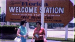 FLORIDA WELCOMES YOU! Tourist Info Center 1960s Vintage Film Home Movie 1769 Stock Footage