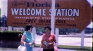 Stock Video Footage of FLORIDA WELCOMES YOU! Tourist Info Center 1960s Vintage Film Home Movie 1769