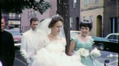 Bride and Groom Catholic Priest Wedding 1960s Vintage Film Home Movie 1773 Stock Footage