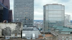 pan downtown buildings - stock footage