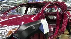 Auto Plant - Car Assembly Line 5.mp4 - stock footage