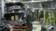 Auto Plant - Car Assembly Line 6.mp4 - stock footage