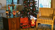 Stock Video Footage of Christmas tree and presents 3