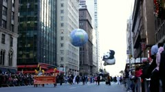 Kung Fu Panda balloon in the distance Stock Footage